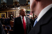 FEBRUARY 5, 2019 - WASHINGTON, DC: President Donald Trump delivered the State of the Union address, with Vice President Mike Pence and Speaker of the House Nancy Pelosi, at the Capitol in Washington, DC on February 5, 2019. (Doug Mills/The New York Times POOL PHOTO) NYTSOTU / MediaPunchCAP/MPI/RS<br /> ©RS/MPI/Capital Pictures
