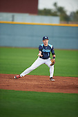 Andres Garcia (1) of Union County Vo-Tech High School in Rahway, New Jersey during the Under Armour All-American Pre-Season Tournament presented by Baseball Factory on January 14, 2017 at Sloan Park in Mesa, Arizona.  (Mike Janes/Mike Janes Photography)