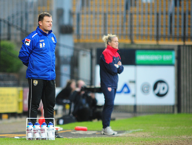 Notts County Ladies' Manager Rick Passmoor <br /> <br /> Photo by Chris Vaughan/CameraSport<br /> <br /> Women's Football - FA Women&rsquo;s Super League 1 - Notts County Ladies v Arsenal Ladies - Wednesday 16th April 2014 - Meadow Lane - Nottingham<br /> <br /> &copy; CameraSport - 43 Linden Ave. Countesthorpe. Leicester. England. LE8 5PG - Tel: +44 (0) 116 277 4147 - admin@camerasport.com - www.camerasport.com