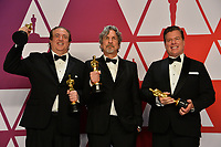 LOS ANGELES, CA. February 24, 2019: Nick Vallelonga, Brian Currie &amp; Peter Farrelly at the 91st Academy Awards at the Dolby Theatre.<br /> Picture: Paul Smith/Featureflash