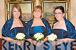 Bridesmaids at the wedding of Elizabeth Ann Brazier and Nathan James Foale at the Ballyroe Heights Hotel on Saturday l-r: Rachel Brazier, Rebecca Bais and Martha Brazier.