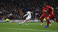 Tottenham Hotspur's Son Heung-Min scores his side's first goal  <br /> <br /> Photographer Rob Newell/CameraSport<br /> <br /> UEFA Champions League Group B  - Tottenham Hotspur v Bayern Munich - Tuesday 1st October 2019 - White Hart Lane - London<br />  <br /> World Copyright © 2018 CameraSport. All rights reserved. 43 Linden Ave. Countesthorpe. Leicester. England. LE8 5PG - Tel: +44 (0) 116 277 4147 - admin@camerasport.com - www.camerasport.com