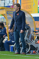 Wycombe Wanderers manager Gareth Ainsworth during the Sky Bet League 2 match between Mansfield Town and Wycombe Wanderers at the One Call Stadium, Mansfield, England on 31 October 2015. Photo by Garry Griffiths.
