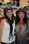 """General Hospital's Jackie Zeman poses with Irene Keene who tries on Jane Elissa's many Hats for Health on September 10, 2010 at the New York Marriott Marquis, New York, New York as Daytime's TV and  Broadway stars get involved in helping launch Jane Elissa's """"Hats For Health"""" to promote awareness and to raise money for Leukemia and cancer research.   (Photo by Sue Coflin/Max Photos)"""