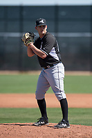 Chicago White Sox relief pitcher Tyler Danish (60) during a Minor League Spring Training game against the Cincinnati Reds at the Cincinnati Reds Training Complex on March 28, 2018 in Goodyear, Arizona. (Zachary Lucy/Four Seam Images)
