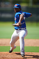 Toronto Blue Jays pitcher Juan Nunez (43) during an instructional league game against the Philadelphia Phillies on October 3, 2015 at the Carpenter Complex in Clearwater, Florida.  (Mike Janes/Four Seam Images)