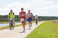 Chrissie Wellington on the run course of the Challenge Roth Ironman Triathlon, Roth, Germany, 10 July 2011