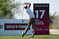 Ali Al-Shahrani (AM)(QAT) on the 17th during Round 1 of the Commercial Bank Qatar Masters 2020 at the Education City Golf Club, Doha, Qatar . 05/03/2020<br /> Picture: Golffile | Thos Caffrey<br /> <br /> <br /> All photo usage must carry mandatory copyright credit (© Golffile | Thos Caffrey)