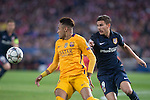Atletico de Madrid's Lucas Hernandez and FC Barcelona Neymar during Champions League 2015/2016 Quarter-Finals 2nd leg match. April 13, 2016. (ALTERPHOTOS/BorjaB.Hojas)