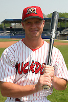July 11, 2005:  Outfielder Jeremy Slayden of the Batavia Muckdogs during a game at Dwyer Stadium in Batavia, NY.  The Muckdogs are the Short Season Class-A affiliate of the Philadelphia Phillies.  Photo By Mike Janes/Four Seam Images