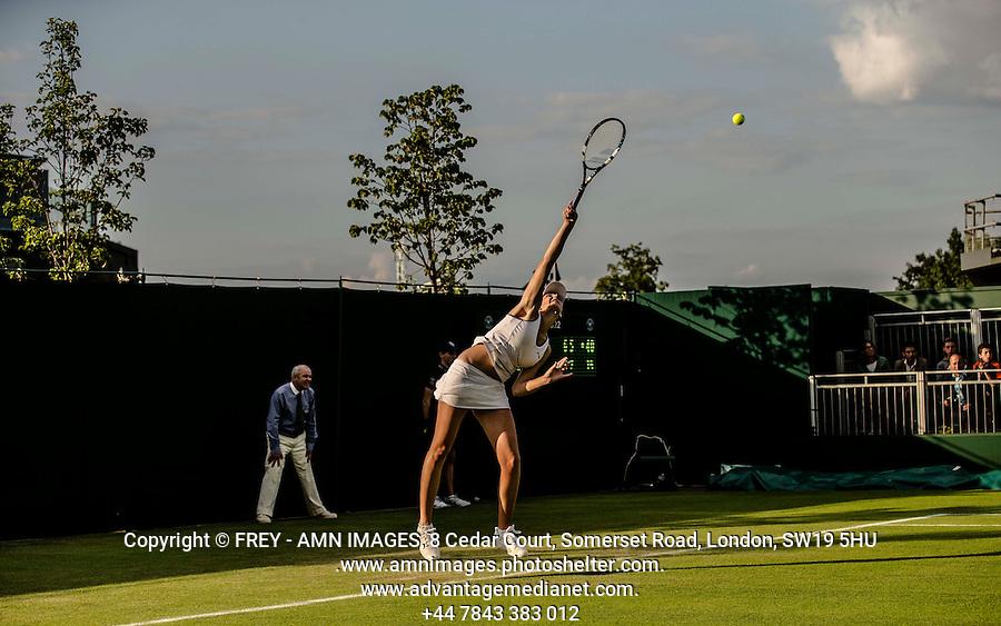 Karolina Pliskova<br /> <br /> Tennis - The Championships Wimbledon  - Grand Slam -  All England Lawn Tennis Club  2013 -  Wimbledon - London - United Kingdom - Tuesday 25th June  2013. <br /> &copy; AMN Images, 8 Cedar Court, Somerset Road, London, SW19 5HU<br /> Tel - +44 7843383012<br /> mfrey@advantagemedianet.com<br /> www.amnimages.photoshelter.com<br /> www.advantagemedianet.com<br /> www.tennishead.net