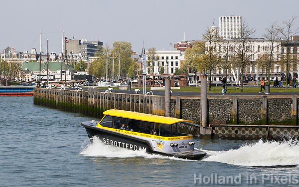 Nederland Rotterdam   2017.  Watertaxi bij de Wilhelminapier.  Foto Berlinda van Dam / Hollandse Hoogte