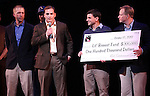 Chaplin Cast during the Curtain Call and check presentation to Christopher Horgan, Jonathan Ziegler and Timothy Carroll from The Lil' Bravest INC Charity at 'Chaplin' at the Barrymore Theatre in New York City on 11/09/2012