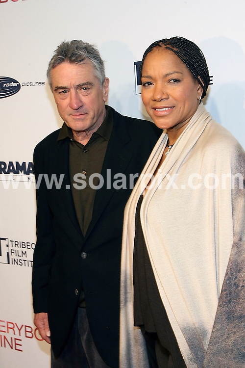 """**ALL ROUND PICTURES FROM SOLARPIX.COM**.**SYNDICATION RIGHTS FOR UK, AUSTRALIA, DENMARK, PORTUGAL, S. AFRICA, SPAIN & DUBAI The  """"Everybody's Fine"""" New York Premiere at AMC Lincoln Square in New York City, NY, USA ..This pic:Robert De Niro and Grace Hightower..JOB REF:10345   PHZ/Mayer    DATE: 04.12.09.**MUST CREDIT SOLARPIX.COM OR DOUBLE FEE WILL BE CHARGED**.**MUST NOTIFY SOLARPIX OF ONLINE USAGE**.**CALL US ON: +34 952 811 768 or LOW RATE FROM UK 0844 617 7637**"""