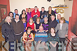 Mike O'Shea pictured here front centre celebrated his 50th in Mike Murts Bar in Cahersiveen on Saturday night last.