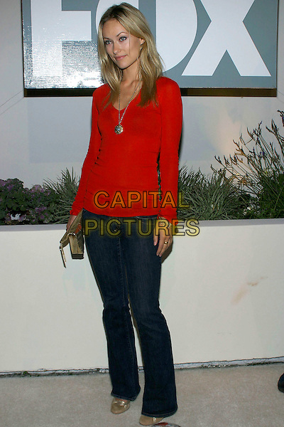 "OLIVIA WILDE.Fox TV ""White Hot Winter"" Network Party at Meson G Restaurant, Los Angeles, California, USA, .17th January 2005..full length red top .Ref: ADM.www.capitalpictures.com.sales@capitalpictures.com.©Jacqui Wong/AdMedia/Capital Pictures .."