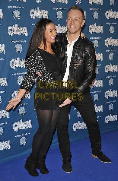 LONDON, ENGLAND - JANUARY 07: Hayley Tamaddon &amp; Daniel Whiston attend the &quot;Cirque du Soleil: Quidam&quot; VIP press night, Royal Albert Hall, Kensington Gore, on Tuesday January 07, 2014 in London, England, UK.<br /> CAP/CAN<br /> &copy;Can Nguyen/Capital Pictures