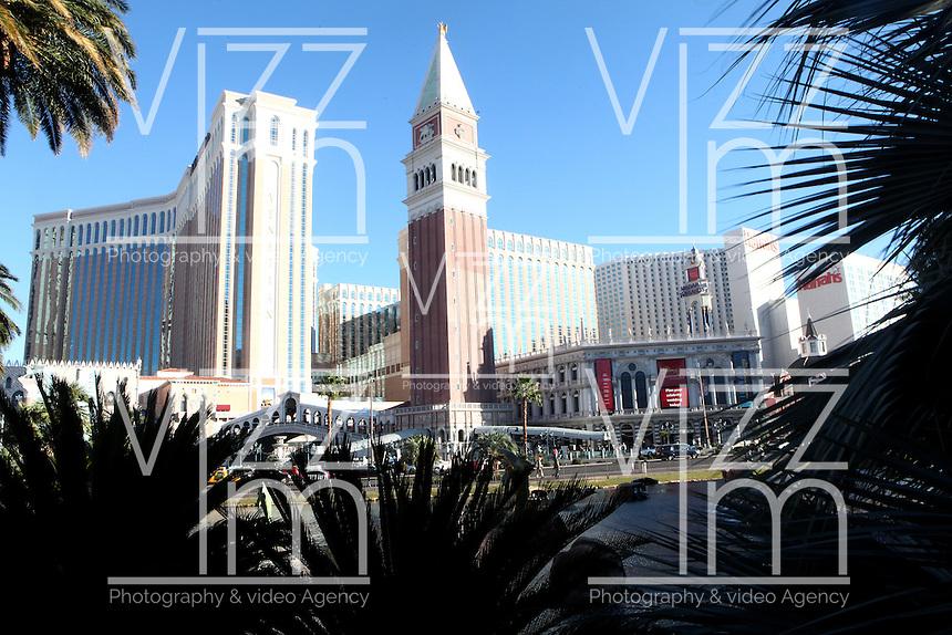 LAS VEGAS-ESTADOS UNIDOS.Fachada del hotel Venetian en Las Vegas, sitio de descanso y placer de turistas y residentes americanos. Photo: VizzorImage