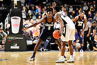 Wednesday, January 4, 2016: Georgetown Hoyas guard Jonathan Mulmore (2) guards Providence Friars guard Kyron Cartwright (24) during the NCAA basketball game between the Georgetown Hoyas and the Providence Friars held at the Dunkin Donuts Center, in Providence, Rhode Island. Providence defeats Georgetown 76-70 in regulation time. Eric Canha/CSM