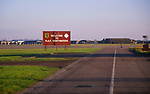 AF5GN7 Sign by runways saying Welcome to RAF Bentwaters Suffolk England