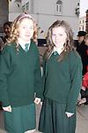 Scoile Aonghusa Confirmation in St Peters Church..Sarah Kieran and Linda Finegan..Photo: Fran Caffrey/www.newsfile.ie...