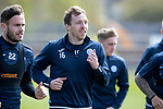 St Johnstone Training&hellip;04.05.18<br />David McMillan pictured during training this morning at McDiarmid Park alongside Keith Watson<br />Picture by Graeme Hart.<br />Copyright Perthshire Picture Agency<br />Tel: 01738 623350  Mobile: 07990 594431