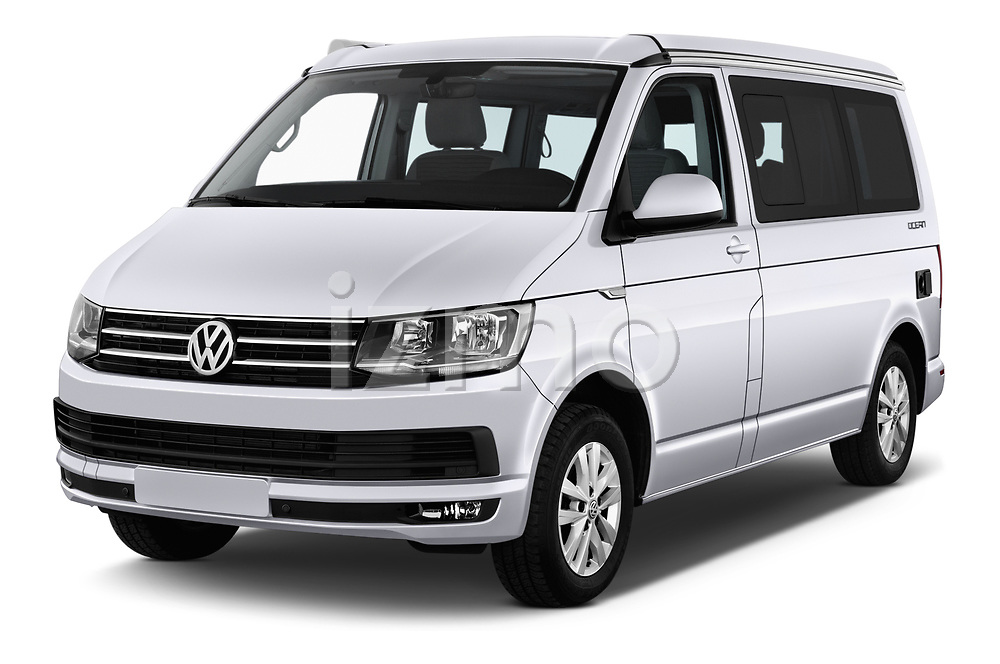2018 Volkswagen California Ocean 4 Door Passenger Van angular front stock photos of front three quarter view