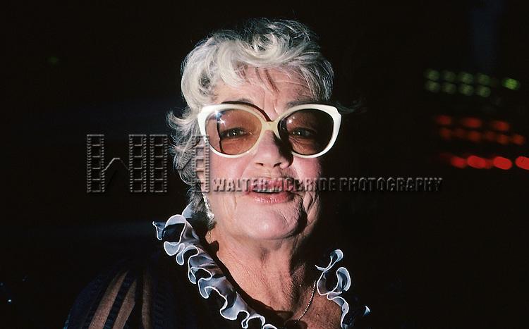 Simone Signoret pictured in New York City in Septemner 1982.