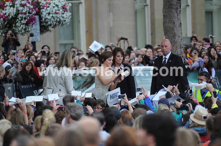 **ALL ROUND PICTURES FROM SOLARPIX.COM**                                             **WORLDWIDE SYNDICATION RIGHTS**                                                                                  Caption:  arrivals at the World Premiere of Harry Potter and The Deathly Hallows - Part 2, Trafalgar Square, London, UK. 7 July 2011                                                                             This pic: Emma Watson                                                                                             JOB REF: 13679 LNJ       DATE: 07_07_2011                                                           **MUST CREDIT SOLARPIX.COM OR DOUBLE FEE WILL BE CHARGED**                                                                      **MUST AGREE FEE BEFORE ONLINE USAGE**                               **CALL US ON: +34 952 811 768 or LOW RATE FROM UK 0844 617 7637**