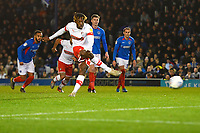 Freddie Ladapo of Rotherham United scores from the penalty spot to make the score 2-2  during Portsmouth vs Rotherham United, Sky Bet EFL League 1 Football at Fratton Park on 26th November 2019