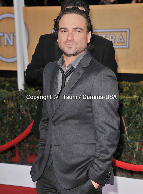 Johnny Galecki   the 19th Ann. SAG Awards 2013 at the Shrine Auditorium In Los Angeles.