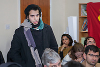 FSA; Jabhat Fateh al-Sham Supporter @ Vanessa Beeley, Public meeting Birmingham, Shaheed Udham Singh Welfare Centre, Handsworth