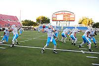 Oct. 8, 2009; Las Vegas, NV, USA; Las Vegas Locomotives quarterback (7) J.P. Losman prior to the game against the California Redwoods in the inaugural United Football League game at Sam Boyd Stadium. Las Vegas defeated California 30-17. Mandatory Credit: Mark J. Rebilas-