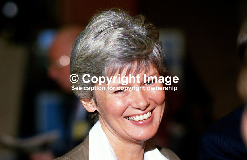 Jill Gould, wife of Bryan Gould, MP, Labour Party, UK, 19870941JG.<br />