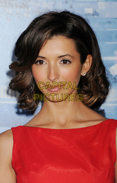 India de Beaufort.L.A. Premiere of 'Man on a Ledge' held at The Grauman's Chinese Theatre in Hollywood, California, USA..January 23rd, 2012.headshot portrait red sleeveless  .CAP/ROT/TM.©Tony Michaels/Roth Stock/Capital Pictures