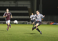 Anton Brady in the St Mirren v Heart of Midlothian Clydesdale Bank Scottish Premier League U20 match played at St Mirren Park, Paisley on 6.11.12.