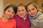 Sidhbh Murphy, Juliette and Emily sheppard at the school coffee morning and cake sale being run by the PTA of St Peters School, Bolton Street .<br /> Picture: Fran Caffrey www.newsfile.ie