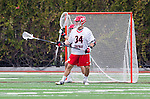 Orange, CA 03-05-17 - Nicholas Totah (Chapman #34) in action during the UCLA - Champman Southern Lacrosse Conference MCLA Division 1 Men's Lacrosse game.