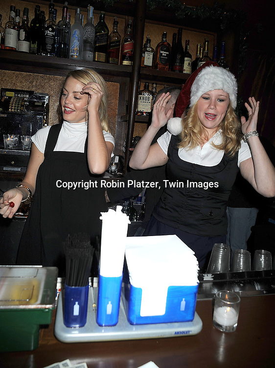 Bree Williamson and Caitlin Van Zandt..at The Stockings With Care Benefit at Bar 13 on  December 4, 2008 in New York City. ......Robin Platzer, Twin Images