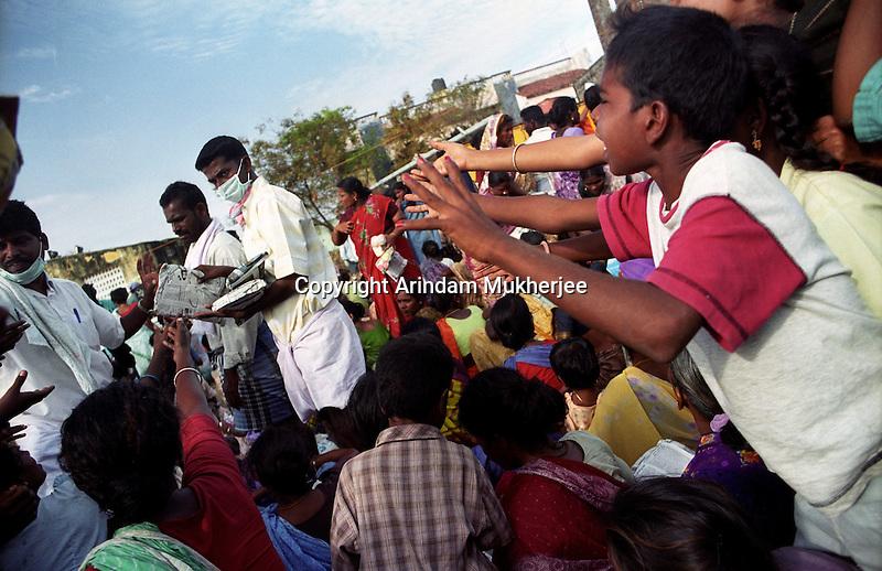Crying for aid near Nagapattinam.India.