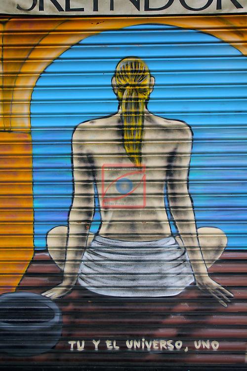 Street Art-Graffittis.<br /> Carrer Enten&ccedil;a.<br /> Barcelona- Sant Antoni (Eixamble).