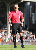 Referee Keith Stroud in action<br /> <br /> Photographer David Shipman/CameraSport<br /> <br /> The EFL Sky Bet Championship - Fulham v Blackburn Rovers - Saturday 10th August 2019 - Craven Cottage - London<br /> <br /> World Copyright © 2019 CameraSport. All rights reserved. 43 Linden Ave. Countesthorpe. Leicester. England. LE8 5PG - Tel: +44 (0) 116 277 4147 - admin@camerasport.com - www.camerasport.com