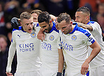 Leicester City's Riyad Mahrez celebrates scoring his sides opening goal with Jamie Vardy <br /> <br /> - English Premier League - Watford vs Leicester City  - Vicarage Road - London - England - 5th March 2016 - Pic David Klein/Sportimage