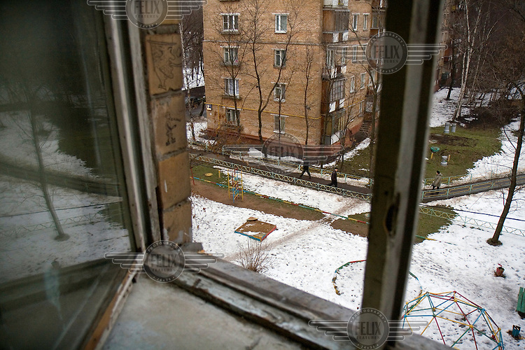 The apartment building where Ivan Safranov, a 51-year-old Russian journalist, plunged to his death. Safronov, a military affairs writer for the Kommersant daily newspaper, died after falling out of a stairwell window between the fourth and fifth floor of his apartment on 2 March 2007. He lived on the third floor. Safronov had faced threats while reporting on highly sensitive political issues and many believe his death to have been connected to his investigative work. The U.S.-based Committee to Protect Journalists said that 13 journalists have been killed in contract-style murders since Putin took office in 2000.