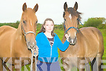 ..HORSES: Katie Knapp from Abbeydorney with her horses in conjuction with Equine Anatomy and Physiolegy Course at An To?chair Adult Education Centre,Causeway.....