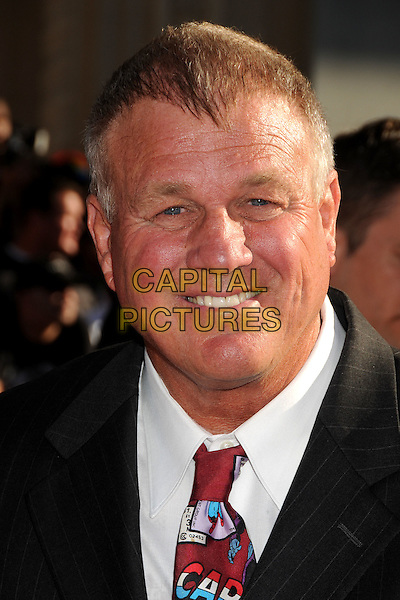 "Reb Brown.""Captain America: The First Avenger"" Los Angeles Premiere held at the El Capitan Theatre, Hollywood, California, USA..July 19th, 2011.headshot portrait white red print tie black .CAP/ADM/BP.©Byron Purvis/AdMedia/Capital Pictures."