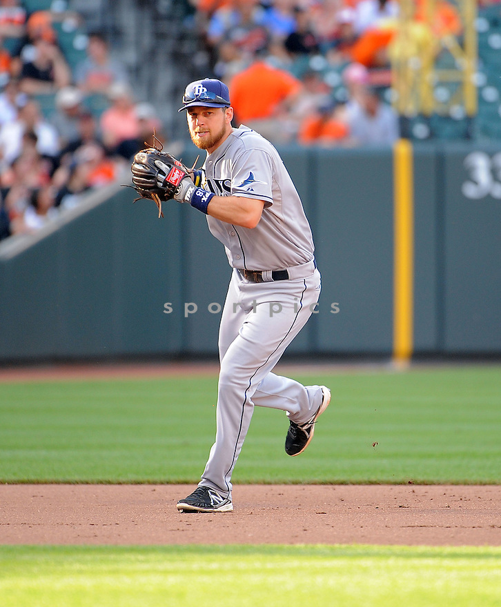 Tampa Bay Rays Ben Zobrist (18) during a game against the Baltimore Orioles on June 28, 2014 at Oriole Park in Baltimore, MD. The Rays beat the Orioles 5-4.