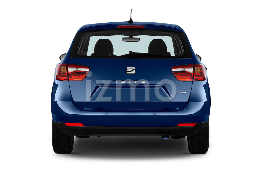 Straight rear view of 2016 Seat Ibiza ST Style 5 Door Wagon Rear View  stock images