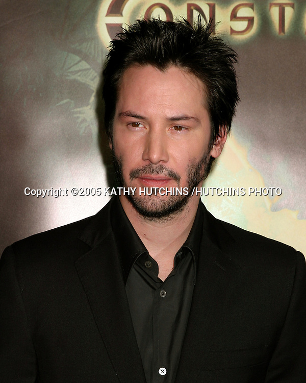 "KEANU REEVES.PREMIERE OF ""CONSTANTINE"".GRAUMAN'S CHINESE THEATER.HOLLYWOOD, CA.FEBRUARY 16 , 2005.©2005 KATHY HUTCHINS /HUTCHINS PHOTO."