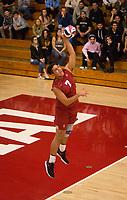 STANFORD, CA - March 10, 2018: Mason Tufuga at Burnham Pavilion. The Stanford Cardinal lost to UC Irvine, 3-0.